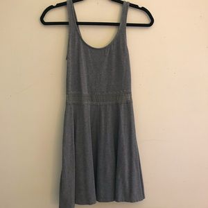 A&F grey dress with see through lace waist detail